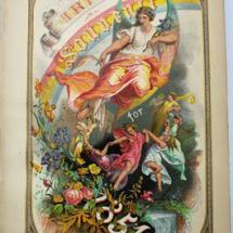 American Victorian binding with beautiful full-page chromolithographs and steel engravings.